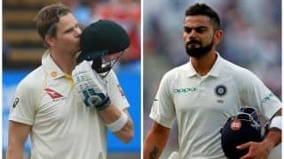ICC Test rankings: Steve Smith rises to second, closes gap on top-ranked Virat Kohli to nine points