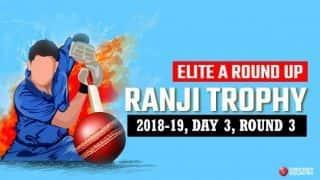 Ranji Trophy 2018-19, Elite A, Round 3, Day 3: Vidarbha in driving seat against Baroda