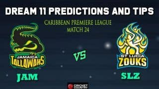 Dream11 Team Jamaica Tallawahs vs St Lucia Zouks Match 24 Caribbean Premier League 2019 – Cricket Prediction Tips For Today's T20 Match JAM vs SLZ at Barbados