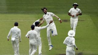 1st Test, Adelaide: Australia 186/6 at lunch, India need four for famous win