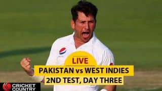 LIVE Cricket Score, Pakistan vs West Indies, 2nd Test, Day 3 at Abu Dhabi