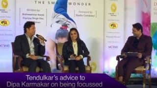 Sachin Tendulkar's golden advice to Dipa Karmakar on keeping focus