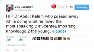Dr. APJ Abdul Kalam passes away: Twitter reactions from world of cricket