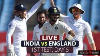 Live Cricket Score in Hindi, India vs England, 1st Test, Day 5 at Rajkot