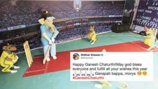 Shikhar Dhawan, Hardik Pandya and others wish fans on Ganesh Chaturthi