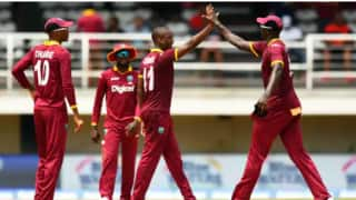Sunil Ambris scores maiden hundred as West Indies beat Ireland by 5 wkts