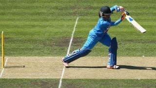 Mithali Raj dismissed for 42 during India vs Bangladesh, Womens T20 World Cup 2016 at Bengaluru