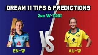 Dream11 team England women vs Australia women, 2nd T20I, Women's Ashes - Cricket Prediction Tips for Today's match EN-W vs AU-W at Brighton
