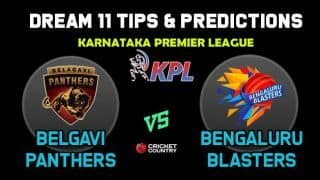 Dream11 Team Belagavi Panthers vs Bengaluru Blasters Match KARNATAKA PREMIER LEAGUE 2019 2019 Karnataka Premier League – Cricket Prediction Tips For Today's T20 Match BP vs BB at Bengaluru