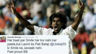 Sehwag and others react to Balaji's retirement
