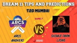 Dream11 Prediction: AA vs SPL Team Best Players to Pick for Today's Match between Shivaji Park Lions vs ARCS Andheri in MPL 2019 at 3:30 PM