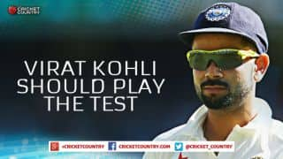 Virat Kohli needs a break but should play the Test against Bangladesh and skip the ODIs