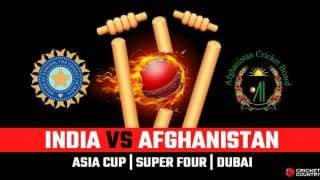 Asia Cup 2018, India vs Afghanistan, LIVE Cricket Score, Super Four, Dubai
