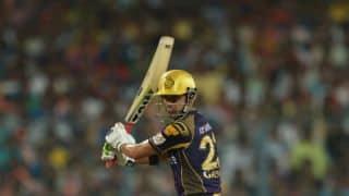 Gautam Gambhir dismissed in quick succession for 16 during Kolkata Knight Riders vs Sunrisers Hyderabad, Match 55 of IPL 2016
