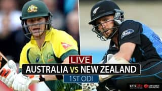 Live Cricket Score, Australia vs New Zealand, Chappell-Hadlee Trophy 2016-17, 1st ODI: Finch departs for golden duck