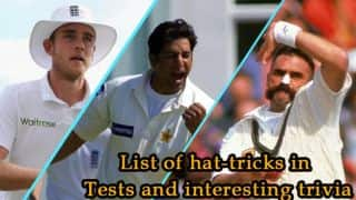 Hat-tricks in Test cricket: Stats and other trivia