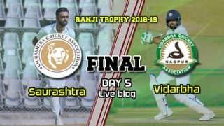 Highlights, Ranji Trophy 2018-19 Final, Day 5, Full Cricket Score and Result: Vidarbha beat Saurashtra by 78 runs