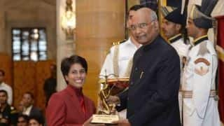 Poonam Yadav receives Arjuna Award, Ravindra Jadeja misses ceremony