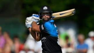 Ross Whiteley hit 6 sixes in an over; steals Yuvraj Singh and David Willey's thunder