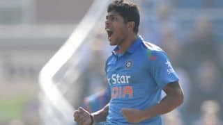 India vs Sri Lanka, 2nd ODI at Ahmedabad: Umesh Yadav gets wicket of Kumar Sangakkara