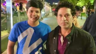 Indian women cricketer Shefali Verma meets her childhood hero Sachin Tendulkar