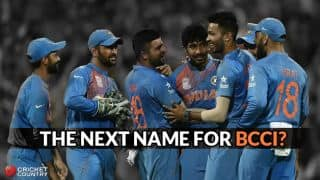 Possible names BCCI can be replaced with