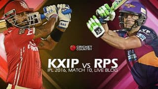 KXIP 153/4, 18.4 Overs, LIVE Cricket Score, Kings XI Punjab (KXIP) vs Rising Pune Supergiants (RPS), IPL 2016, Match 10 at Mohali: KXIP win their first by 6 wickets!