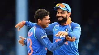 Kuldeep Yadav becomes the first ever left-arm wrist-spinner to take SIX wickets in an ODI