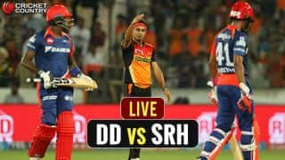 LIVE IPL 2017 Score, Delhi Daredevils (DD) vs Sunrisers Hyderabad (SRH) IPL 10, Match 40: DD win by 6 wickets