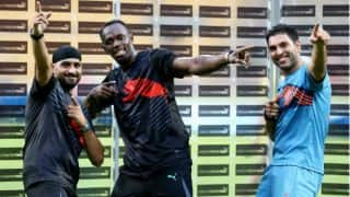 Usain Bolt's bowling action surprises Harbhajan