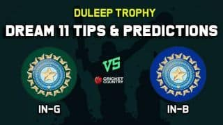 IN-G vs IN-B Dream11 Team India Green vs India Blue Duleep Trophy 2019 – Cricket Prediction Tips For Today's  Match at Bengaluru