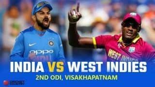 India vs West Indies 2018, 2nd ODI, Live Cricket Score, Visakhapatnam: Shai ton raises hopes of West Indies' win
