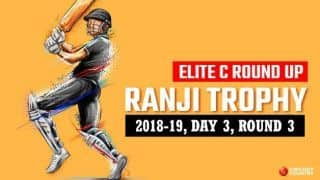 Ranji Trophy 2018-19, Elite C, Round 3, Day 3: Slow-going Tripura survive another day