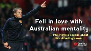 Matthew Hayden was my hero, says former Manchester United footballer Phil Neville