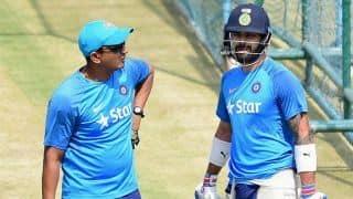 Things Sanjay Bangar worked on - Virat Kohli's alignment; Rohit Sharma's head position