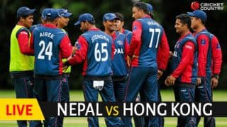 Live cricket scores, Nepal vs Hong Kong, ICC World Cricket League Championship: HK win