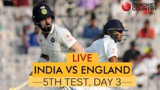 Live Cricket Score, India vs England, 5th Test, Day 3 at Chennai; Rahul falls for 199