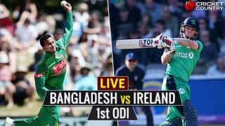 BAN 157/4 in 31.1 overs | Live Cricket Score, Bangladesh vs Ireland, 1st ODI at Dublin in Tri-Series 2017: Game abandoned