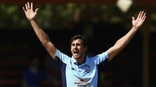 Mitchell Starc's brisk delivery results into Joe Burns's rare dismissal in JLT ONE-DAY CUP 2017