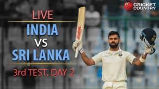 Live cricket score, India vs Sri Lanka, 3rd Test, Day 2: STUMPS