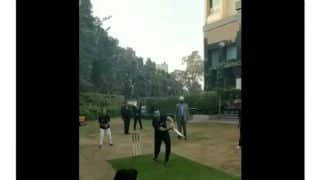 Former WWE Champion Jinder Mahal tries his hands in cricket