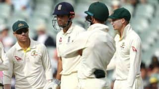 The Ashes 2017-18, 2nd Test: England lose openers before dinner in pursuit of 354