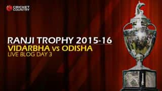 Odisha 15/0 in 8 Overs: Live Cricket Score, Vidarbha vs Odisha, Ranji Trophy 2015-16, Group A match, Day 3 at Nagpur; Odisha trail by 178 runs at stumps