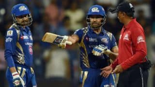 Rohit fined for showing dissent against umpire in MI vs RPS tie