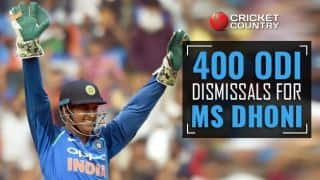 MS Dhoni becomes 4th wicket-keeper to complete 400 dismissals in ODIs