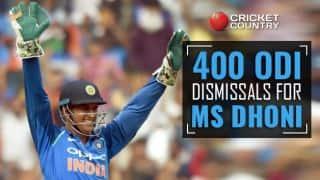 वनडे में 400 डिसमिसल पूरे करने वाले चौथे विकेटकीपर बने महेंद्र सिंह धोनी