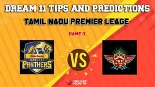 Dream11 Team Siechem Madurai Panthers vs Tuti Patriots Match 3 TNPL – Cricket Prediction Tips For Today's T20 Match MAD vs TUT at NPR College Ground, Dindigul