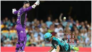 Big Bash League, 2017-18: Alex Ross given out for obstructing the field vs Hobart Hurricanes: Watch Video