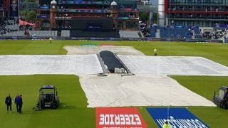 Match highlights, ICC Cricket World Cup 2019, 1st semifinal India vs New Zealand Day 1: Match pushed into reserve day on Wednesday after incessant rain