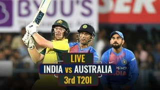 LIVE CRICKET SCORE, India vs Australia 2017-18, 3rd T20I at Hyderabad: Match abandoned due to wet outfield